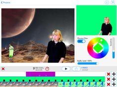Green Screen by Do ink - IOS-app man kan lave billedmanipulerede film med, hvor man filmes på grøn baggrund, som digitalt fjernes og erstattes med et foto eller en tegnet/malet baggrund - $ 2,99