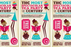 Circus Tea Party Invitations by Page 84 Design