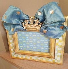 HP parchment courtly whimsical check frame 8x10 fits 4x6 picture supercrazychick