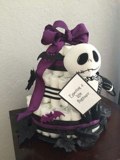 Find This Pin And More On Baby Shower By Lisasymonds. For My Future Little  Nightmares. Nightmare Before Christmas Diaper Cake!