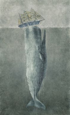 Whale tipping the boat - by Terry Fan