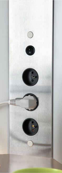 Prise USB   de courant   multiple   en aluminium - TABLE TOP