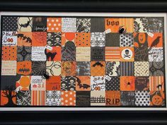 Halloween 4 - picture made using scrapbook paper cut itno 2x2 squares.