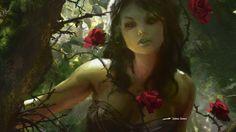 Somberwald Dryad art by Jaime Jones