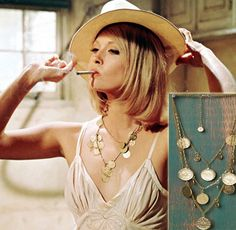 Faye Dunaway via Bonnie and Clyde