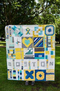 Quilt for Boston | Boston Modern Quilt Guild #TheCrazyCities #crazyBoston