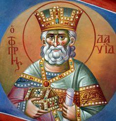 Holy Icon - Communio Sanctorum King David, Old Testament, Orthodox Icons, Christ, Saints, Father, Princess Zelda, Facebook, Fictional Characters