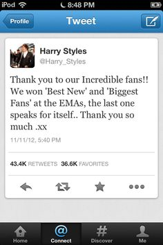 """Not only did 1D win an award WE DIRECTIONERS got an Award!! """"Biggest Fans"""" We're Awesome!!"""