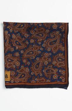 Robert Talbott Silk & Wool Pocket Square   Nordstrom