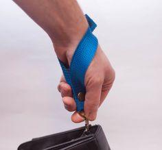 Blue Keychain bag handle universal holder от LoveKnittings на Etsy