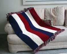 Patriotic Childs Crochet Afghan | Craftsy