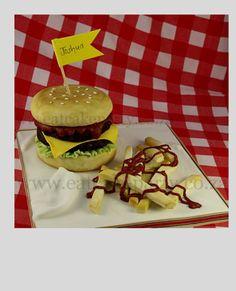Burger cake for Joshua