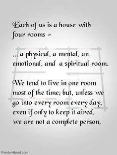 A balanced life...