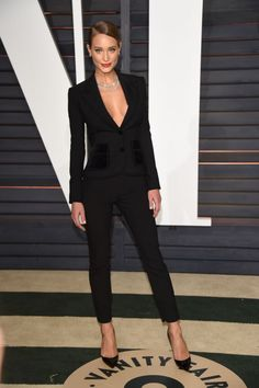 Rita Ora Goes (Almost) Naked & Who Else Wore What Post-Oscars At All the After Parties! | Hannah Davis in a black suit