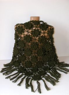 hand+crocheted+shawlwomen+accessoriesgreen2013+by+seno+on+Etsy,+$75.00