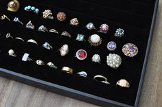 Fine vintage dainty and cocktail rings. A mix of opals, sapphires, pearls, diamonds, topaz, turquoise, garnets, amethysts and gold!