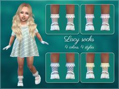 The Sims 4 Frilly Socks For Toddlers The Sims 4 Kids, Toddler Cc Sims 4, The Sims 4 Bebes, Sims 4 Toddler Clothes, Sims 4 Cc Kids Clothing, Sims 4 Children, Sims 4 Mods Clothes, Toddler Outfits, Kids Outfits