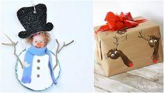 diy christmas wrapping inspiration and free printables