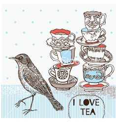 Love this background for banner plus separate spotty and stripy backgrounds for website pages (Teatime background vector 427365 - by Lavandaart on VectorStock�)