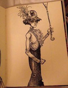 Sarah McIntyre - a peek at chris riddell's fabulous sketchbooks