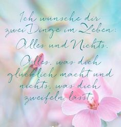 ich wünsche dir im Leben, rosa Blumen, zart, hellblauer Hintergrund