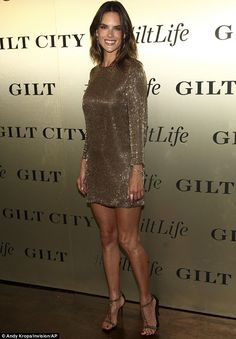 Going for gold: Alessandra Ambrosio was a winner at the #GiltLife launch party in New York on Tuesday