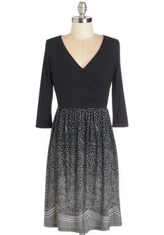 Starry Sky Style Dress. The starlight is illuminating as you end your date night with a stroll through the park in this black dress! #black #modcloth