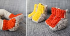 Small and clever - hat, mittens and booties - Pickles
