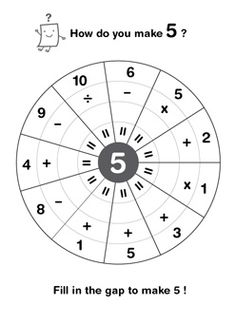 How do you make 5?  Free worksheets to make numbers 3 to 10.  Good challenge for your math students who get done early!
