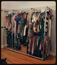 plumbing pipe closet organizer - Google Search