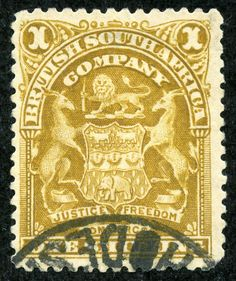 "British South Africa Company 1898 Scott 66 1sh bister ""Coat of Arms"""