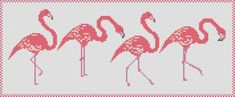 Pink Flamingos cross stitch pattern: flamingo parade | Etsy Crochet Flamingo, Flamingo Craft, Flamingo Pattern, Cross Stitch Embroidery, Cross Stitch Patterns, Cross Stitch Sea, Rainy Day Crafts, Pink Flamingos, Dyi Crafts