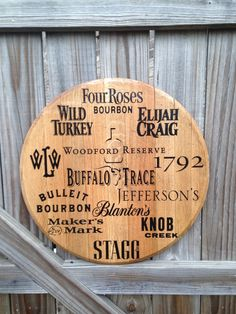 Kentucky Bourbon Whiskey Barrel Top by KyBarrel on Etsy https://www.etsy.com/listing/223468200/kentucky-bourbon-whiskey-barrel-top