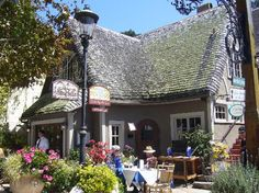 Carmel Village, Carmel, CA ~ lots of shopping opportunities, galleries, restaurants, fountains and dogs - don't miss the side streets