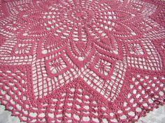 Hand crochet pineapple and diamond inspired by BearMtnCrochet