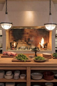 Outdoor Barbeque, Coffee Restaurants, Shabby Chic Kitchen, Barbacoa, Kitchen Interior, Brewery, Beach House, House Styles, French Kitchens
