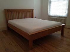 Solid Oak King Size Bed | eBay