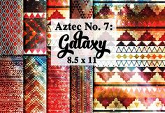 Tribal Aztec Galaxy Digital Paper by Digibonbons on @creativemarket