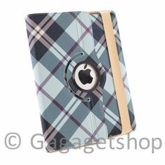 KPAD - BLACK/BLUE For The New iPad 3 360 PU Leather PLAID PATTERN Rotating Magnetic Smart Cover Case(Will also Fit for the Ipad 2) High Quality Cas by KPAD. $12.99. THE NEW UPDATED CASES FOR THE NEW Ipad 3 / IPAD 2 CaseS is designed with duel layer protection. with hard plastic interior molding that fits perfectly to the back of the iPad 3 / Ipad 2 and premium quality synthetic leather in the exterior. The interior hard cover allows the iPad 3/iPad 2 to be rotated horizontally an...