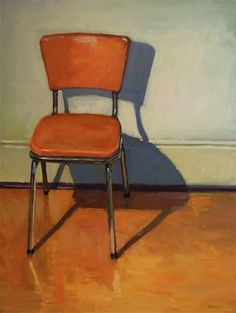 Brian Harvey - Orange Vinyl Chair, 2008 #ChairDrawing