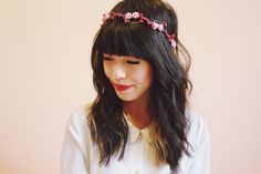 rustic love hair wreath pink frost  wedding by kisforkani on Etsy, $35.00