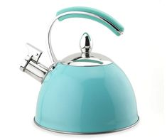 Master Cuisine Teal Tea Kettle, L. at Big Lots. Tiffany Blue Kitchen, Commercial Vacuum, Pour Over Coffee, Updated Kitchen, Kitchen Updates, Teapots And Cups, Tea Set, Kettle, Teal