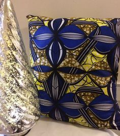 A personal favourite from my Etsy shop https://www.etsy.com/uk/listing/270572631/blue-african-cushion