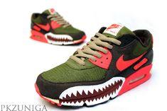 Nike Air Max 90 - Warfrared' Customs   KicksOnFire.com