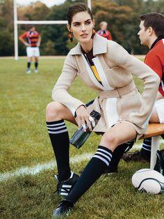 I love this look! Hilary Rhoda - Self Magazine - December 2014 - Editorial | TheImpression.com