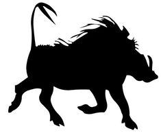 silhouette warthog - Google Search