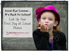 First Day of School Photo Link Up - Back To School