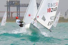 Sailing Laser and having fun