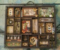 I love the new Graphic 45 Olde Curiosity Shoppe line! I love the new Graphic 45 Olde Curiosity Shoppe line! Graphic 45, Shadow Box Kunst, Shadow Box Art, Altered Boxes, Altered Art, Letterpress Drawer, Vitrine Miniature, Assemblage Art, Home And Deco