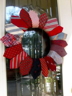 Easy DIY Fathers Day Tie Wreath